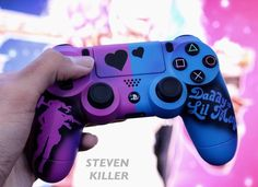 love it - Video Games - Ideas of Video Games - love it Playstation, Xbox, Ps4 Controller Custom, Game Controller, Cool Ps4 Controllers, Gamer Setup, Gaming Room Setup, Photoshop Design, Control Ps4