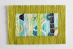 Modern Quilts | Sewing Tutorials | In Color Order: Scrappy Stack Mug Rug Tutorial