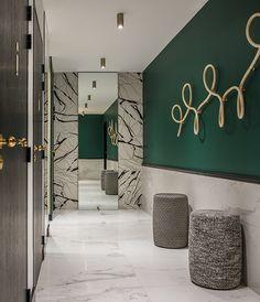 La Foret Noire Restaurant in Chaponost, France by Claude Cartier Studio Restaurant Bad, Restaurant Bathroom, Restaurant Design, Luxury Interior Design, Home Interior, Interior Design Inspiration, Toilette Design, Corridor Lighting, Restroom Design