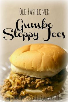 My Grandma and my mom often made these super satisfying Old Fashioned Gumbo Sloppy Joes. The recipe uses Campbell's Chicken Gumbo Soup, so I call them Gumbo Sloppy Joes. They are a quick and tasty way to feed a bunch of kids on a busy night. Cambells Recipes, Gourmet Recipes, Cooking Recipes, Dinner Recipes, Cajun Cooking, Donut Recipes, Sandwich Recipes, Copycat Recipes, Meat Recipes