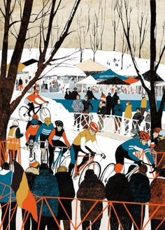 cadenced: Winter cyclocross scene from Eliza Southwood.