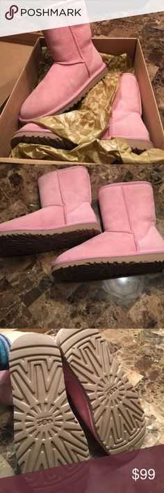 Brand new in box baby pink uggs Brand new baby pink uggs  short boot. UGG Shoes