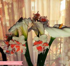 Flores de jarro y narcisos