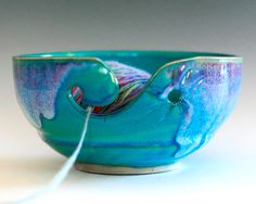 LARGE Yarn Bowl knitting bowl handmade ceramic yarn by ocpottery, $36.00