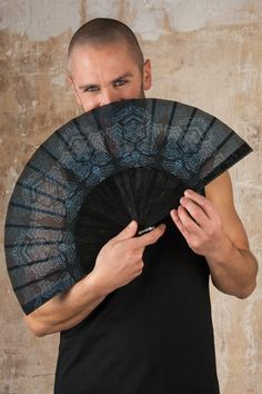Star Wars Hand Fan and Jedi Folding hand fans with Sacred Geometry Cyberpunk Gothic Wedding Gift for Him Jedi Outfit, Goth Outfit, Fashion Foto, Street Fashion, Cyberpunk, Dark Mori, Star Wars, Hand Fans, Self Design