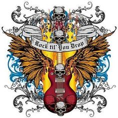 This was my name in the old Yahoo chats {GM} Music Pics, Music Pictures, Music Drawings, Art Drawings, Rockabilly, Guitar Art, Guitar Logo, Pop Rock, Skulls And Roses