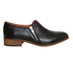 Buy Black Leather Office Lex Side Zip Flats from OFFICE.co.uk.