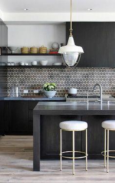 tile pattern, shelves + cabinets mix
