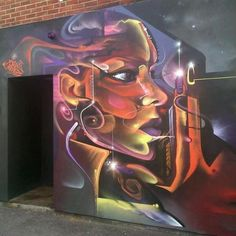 Future faces by @mrcenz in London, photo by bablu121 - Global Street Art