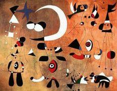 People in the Night, 1949  Joan Miro —
