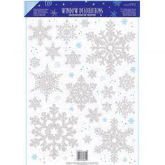 Snowflake Prismatic Vinyl Window Decoration - Christmas Scene Setter Decorations