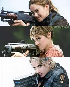 Divergent: yay I can kill with this thing! Insurgent: I can and will kill you. Allegiant: DIE.