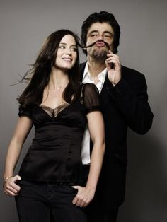 Emily Blunt & Benicio Del Toro. GIANT FIVE YEAR OLD WHEN HE'S WITH EMILY BLUNT. EVERY DAMN TIME.