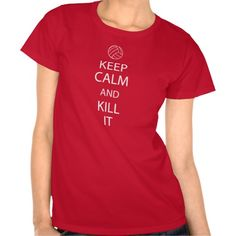 Red Keep Calm Volleyball shirt from zazzle.com/relevanttees #volleyball #tshirt #zazzle
