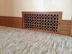 Wood vent covers. Very pretty and perfect for the living room.