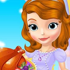 Pretty princess Sofia's getting ready to put on her apron and prepare a mouth-watering, #Thanksgiving special #dinner for her #family and she's counting on your help in the kitchen #Game #Cooking #Arcade