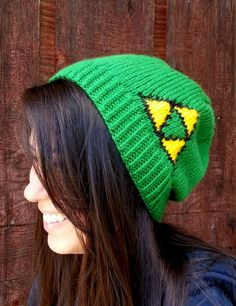 Legend of Zelda Triforce Beanie by TheCraftingMuse on Etsy