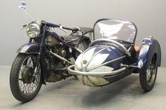 1937 Nimbus 746 cc OHC four with sidecar *