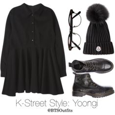 K-Street Style: Yoongi by btsoutfits on Polyvore featuring Moncler