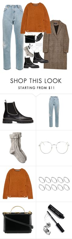"""Untitled #1999"" by samikayy76 ❤ liked on Polyvore featuring Alexander Wang, RE/DONE, Fat Face, Bershka, Topshop, Raquel Allegra, ASOS, Mark Cross, Bobbi Brown Cosmetics and Accessorize"