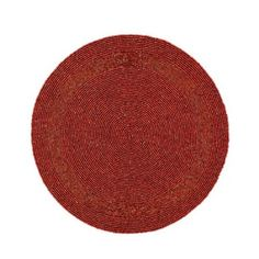 Amazon.com - Red Beaded Placemat Home Decorations Party Handmade By Artisan