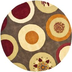 Buy the Safavieh Brown / Multi Direct. Shop for the Safavieh Brown / Multi Soho Round Wool Hand Tufted Contemporary Area Rug and save. Wool Area Rugs, Beige Area Rugs, Wool Rug, Carpet Runner, Rug Runner, Contemporary Area Rugs, Contemporary Homes, Contemporary Classic, Round Area Rugs