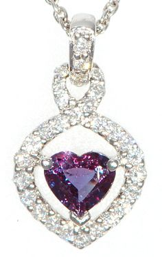 Stunning Genuine Gemstone Alexandrite Pendant for SALE at BitCoin Gems
