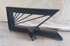 Patas acero i-beam cantilevered. Industrial moderna mesa de