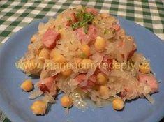 Cizrna po valašsku Potato Salad, Salads, Recipies, Food And Drink, Potatoes, Vegan, Chicken, Ethnic Recipes, Recipes