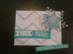 Stampin' Up! demonstrator Melissa C's project showing a fun alternate use for the Watercolor Winter Simply Created Card Kit.