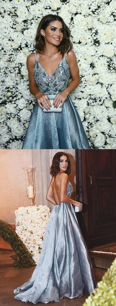 unique prom dresses,design prom dresses, sexy prom dresses beaded backless #promdresses