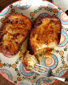 Torrijas are a typical Spanish dessert that are very popular during lent and holy week in Spain.  Stale bread is soaked in a sweetened milk, then dipped in egg and fried.  It's sort of a variation on French toast! #sweetpaul