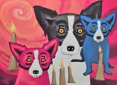 By the Light of the Journey 1997 by Blue Dog George Rodrigue