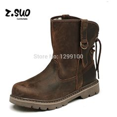 Classic Couple boots Men and Women Canister Tooling Boots British Fashion Martin Boots Men's Genuine Leather Boots ZS992N-in Women's Boots from Shoes on Aliexpress.com | Alibaba Group