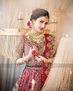 Discover recipes, home ideas, style inspiration and other ideas to try. Pakistani Bridal Makeup, Pakistani Wedding Outfits, Pakistani Dresses, Indian Outfits, Ayeza Khan Wedding, Celebrity Fashion Outfits, Celebrities Fashion, Celebrity Style, Kalamkari Dresses