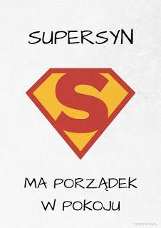 Supersyn ma porządek w pokoju - plakat do pobrania