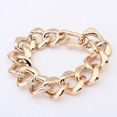 Chic Gold Color Link Women's Bracelet, GOLD in Bracelets | DressLily.com