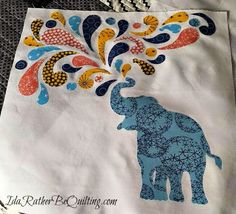 Ida Rather Be Quilting: Pachyderms - minis and baby quilts WIPs