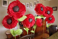 large paper poppy craft