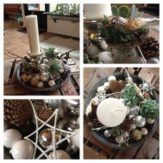 Detaljebilleder af årets kalenderlys- dekoration - julen 2013 / Christmas decorating 2013