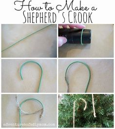 Shepherd's Crook Ornament - {12 days of CHRISTmas Ornaments} - Adventures of a DIY Mom