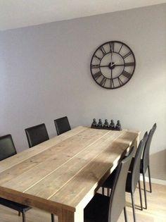 1000 images about tables en ancien bois d 39 chafaudage on - Table bois pied central ...