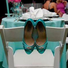 Wedding Shoes - Tiffany Blue Wedding. $122.00, via Etsy.