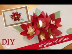Download video diy 3d flower pop up card 3d flower and youtube diy tolle pop up karte mit christstern basteln how to make a christmas pop up card m4hsunfo