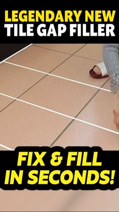 This revolutionary tile filler allows you to quickly fill and seal your expensive tiles with a trust-worthy, high-quality, & waterproofing seal. Grout Stain, Sanded Grout, Diy Projects Home Improvement, Home Projects, Tile Filler, Easy Tile, Flooring Companies, Home Tools, Waterproof Flooring