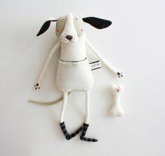 Puppy Plush toy Organic Plush Toy in handmade от Skripskrap