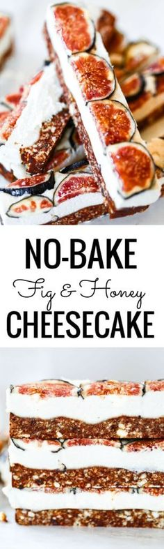 """Easy vegan paleo fig and honey cheesecake with a delicious crisp """"graham cracker"""" crust. Gluten free and so super easy to make! Freezer friendly, but not a necessity! dairy free cheesecake recipe. Raw paleo cheesecake recipe. No bake cashew cheesecake. Best gluten free vegan cheesecake. Raw paleo cheesecake recipe. No bake cheesecake recipe. Paleo cream cheese. Best paleo dessert recipes. Healthy paleo cheesecake fig cheesecake. ."""