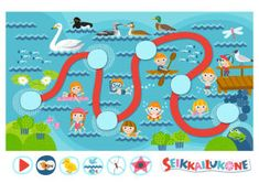 Seikkailukone: Järvi Map, Games, Illustration, Kids, Free, Young Children, Boys, Location Map, Illustrations
