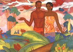 A._T._Manookian,_mural_'Hawaiian_Boy_and_Girl'.jpg 500×353 pixels