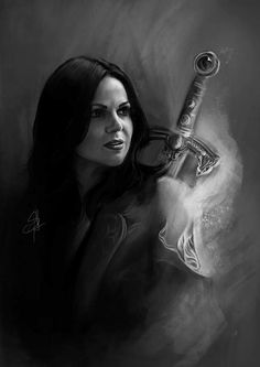 Awesome Regina (Lana) with an awesome sword in awesome art Once S5A